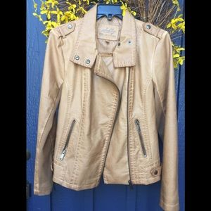 Sebby Collection Moto Jacket Faux Leather 🌿NWT